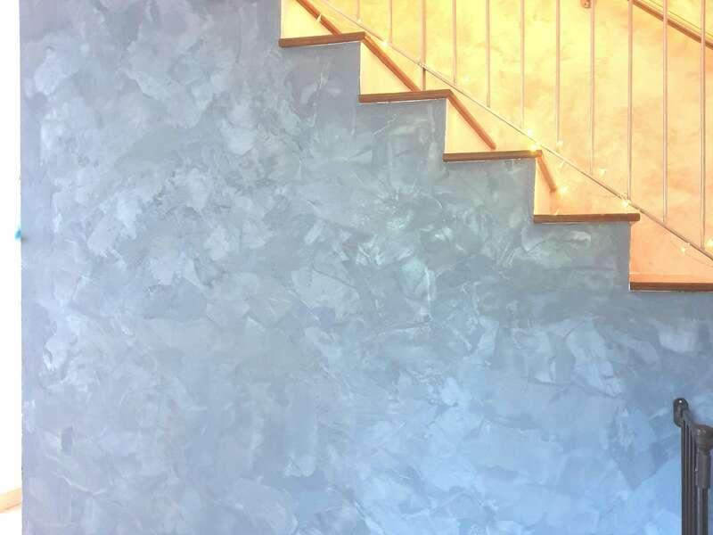 Enduit effet métallisé, couleur bleu
