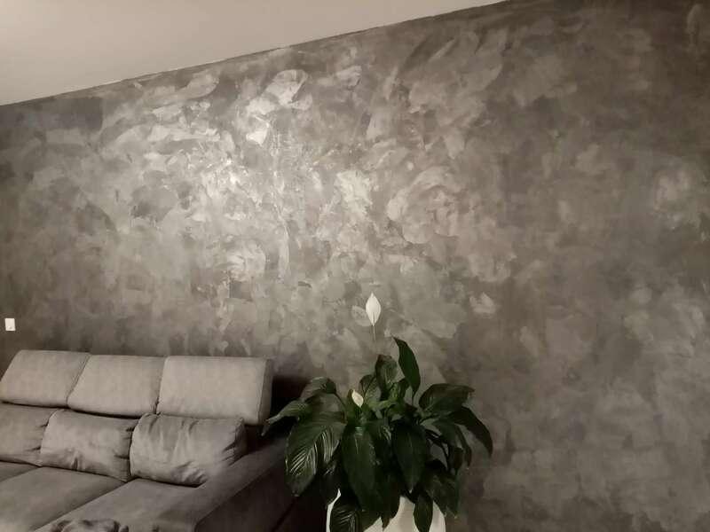 Enduit effet métallisé, couleur gris anthracite