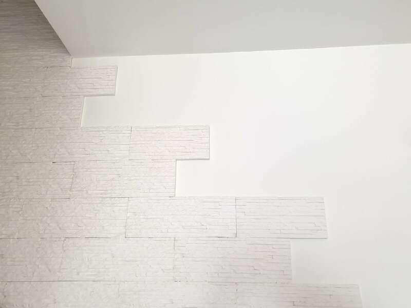 Pierres de parement blanches sans joints