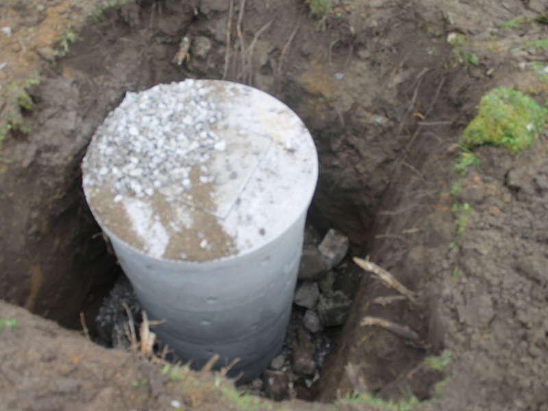 Création d'un puits perdu
