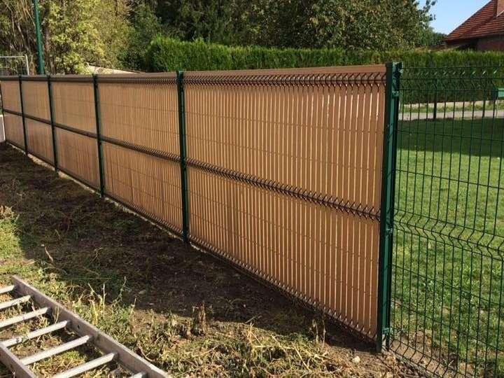 Création de clôture en panneau rigide avec occultation