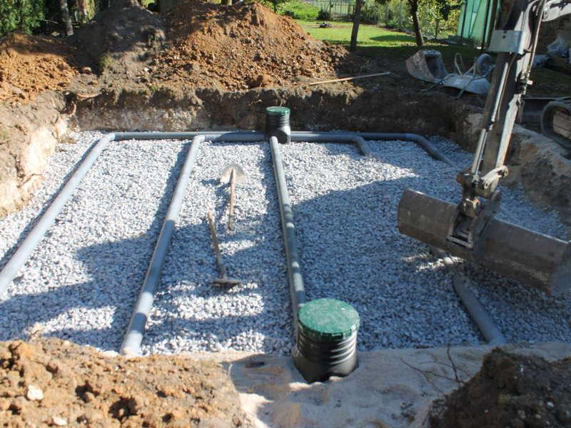 Mise en place de la filière : Filtre à sable vertical non drainé