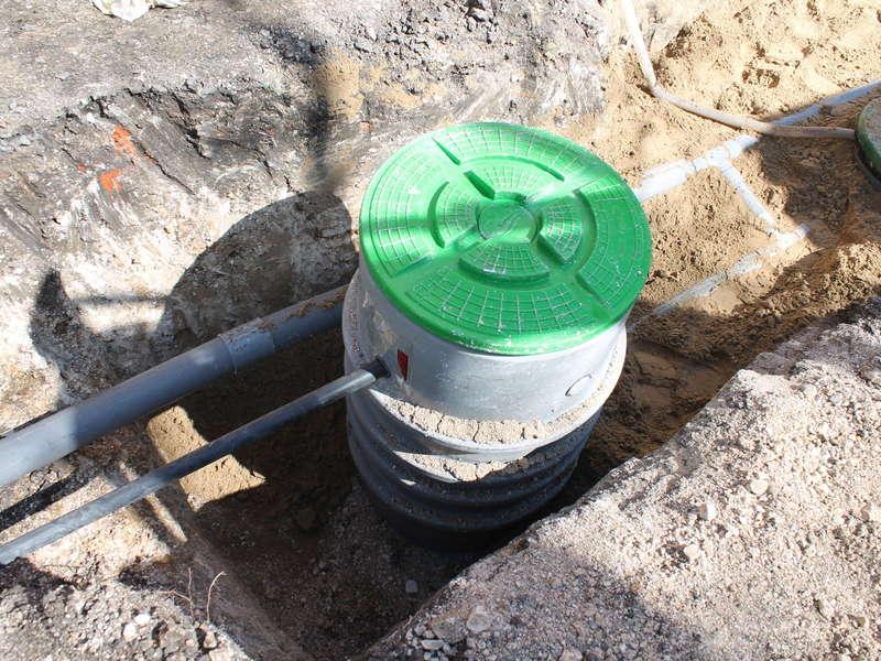 Installation poste de relevage en sortie de fosse toutes eaux semi chargées