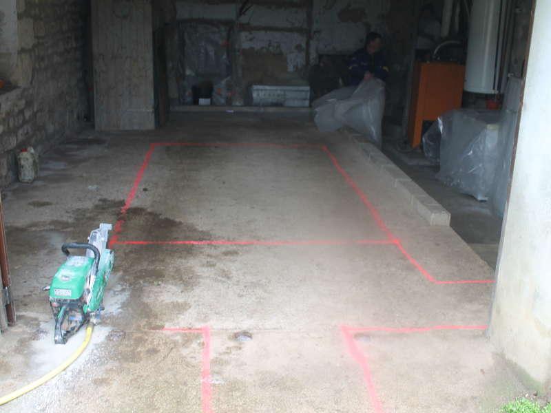 Installation assainissement non collectif avec micro station 5 EH dans un garage.