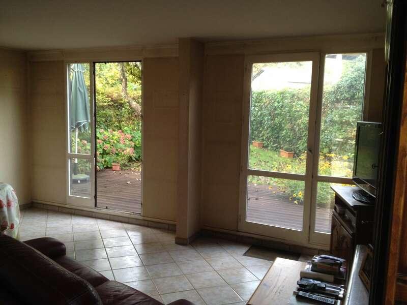 AVANT : Portes-fenêtres en bois blanc