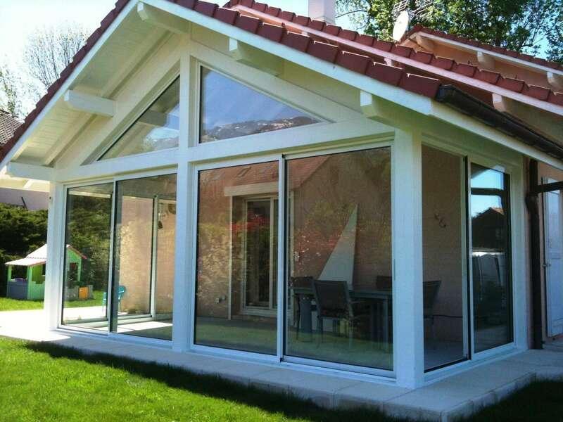 APRÈS : Fermeture de terrasse en aluminium Blanc