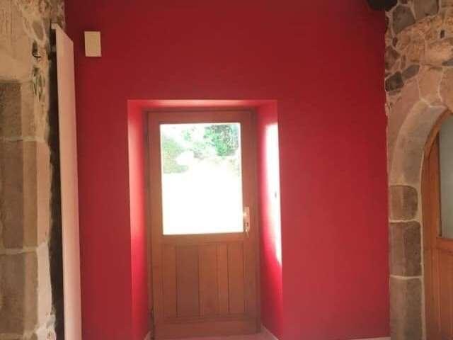 Peinture entrée rouge