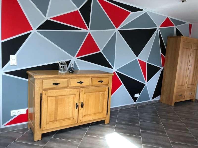 peinture triangle