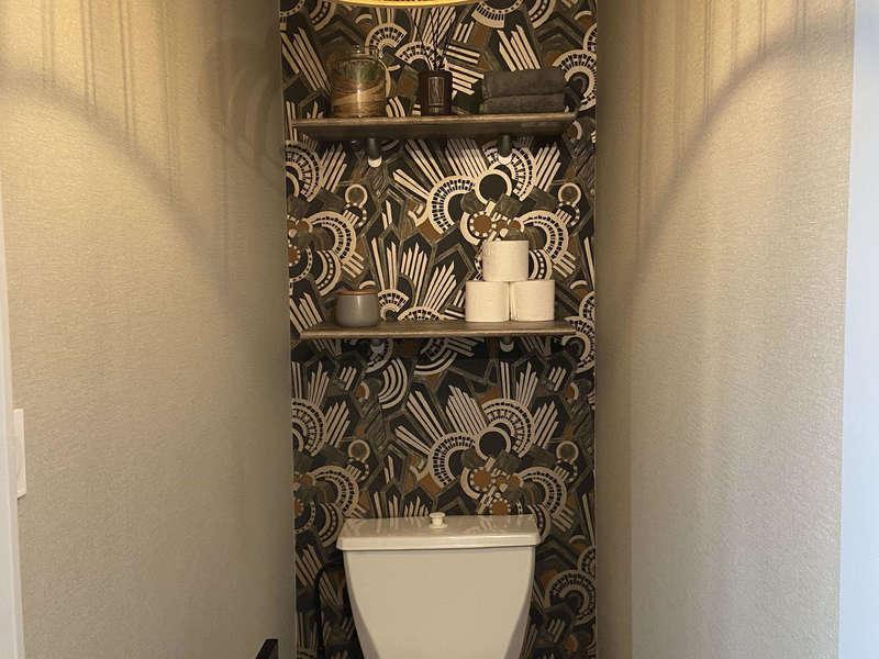 papier peint art deco, toilette deco, wc deco, papier peint wc, papier peint toilette