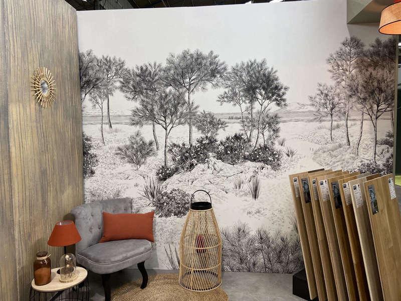 papier peint paysage, papier peint noir et blanc, panoramique noir et blanc, isidore leroy