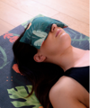 coussin yoga yeux