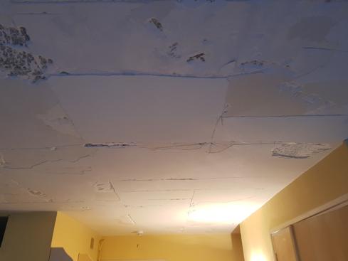 Plafond en travaux