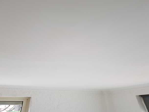Plafond et murs résultat après finition