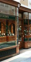 AMF Menuiserie, Façade de magasin en bois à Nandy
