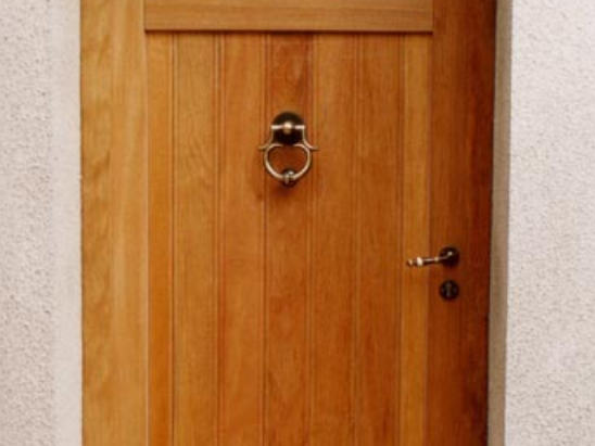 porte bois vitrée