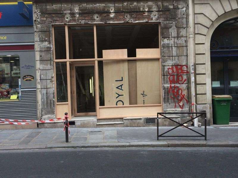 façade magasin bois exotique
