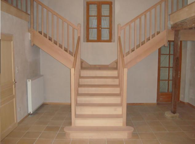 escalier deux quart tournant