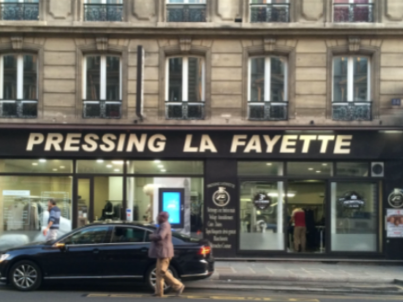 Projet façade commercial paris