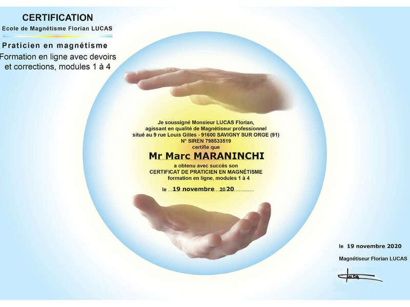 Certification magnétiseur