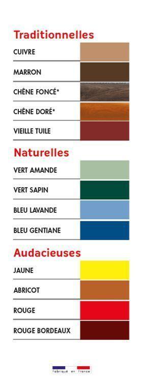 Nuancier des gouttières alu en Vendée - suite
