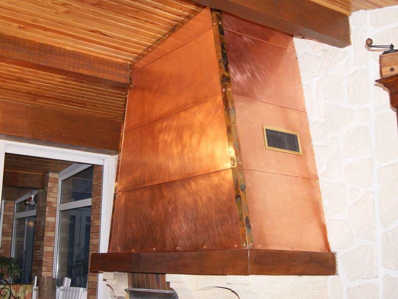 cheminée en cuivre