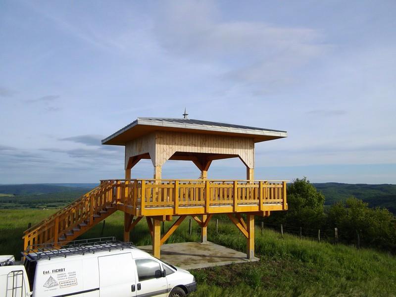 Belvédère en douglas avec balcon et echelle meunière.
