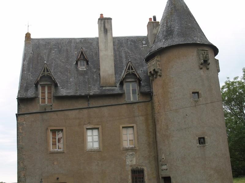Toiture d'un château ancien avant travaux.