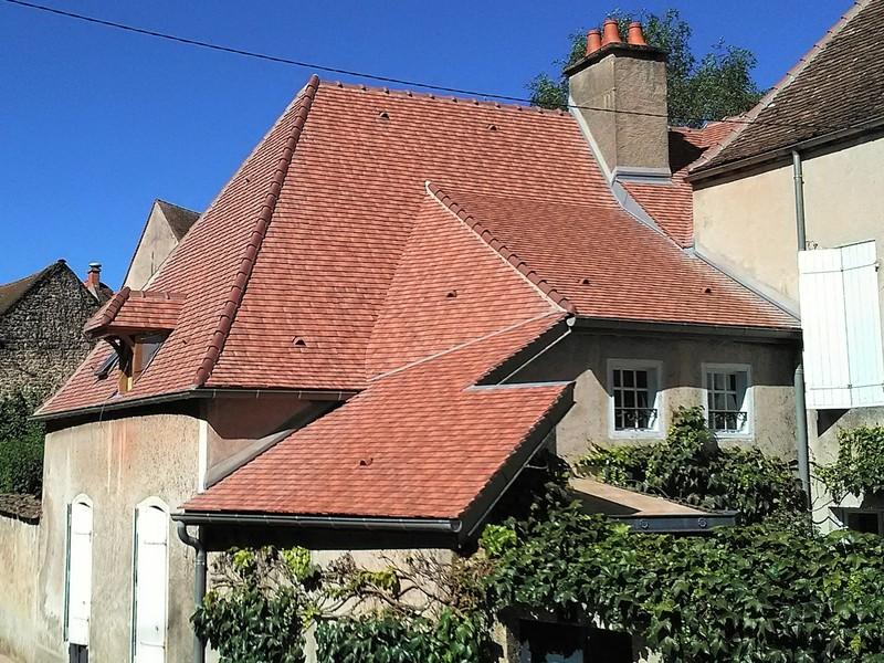 Autre toiture avec raccords couverte en Restauration coloris Rustique nuagé.
