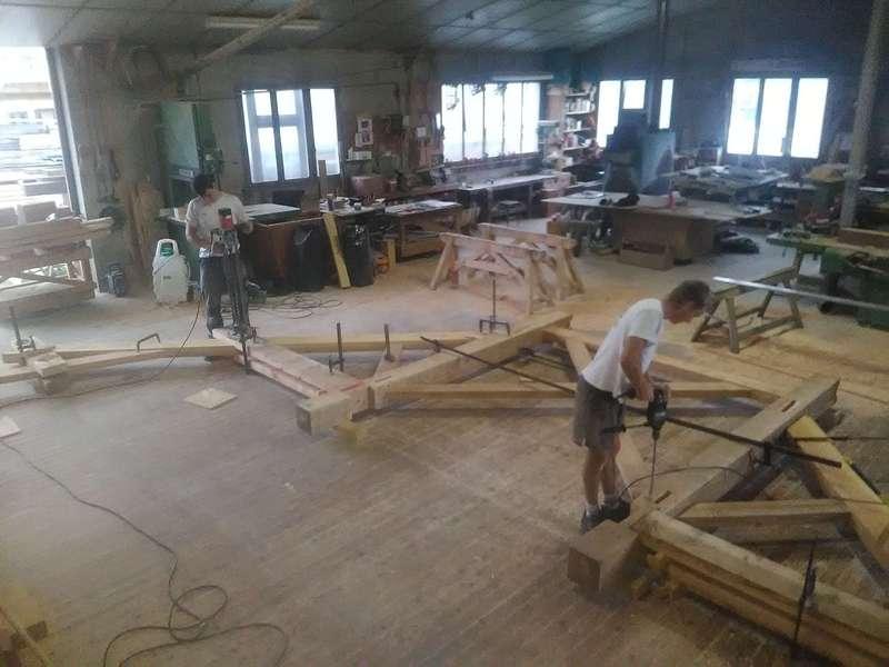 Taillage de fermes en atelier.