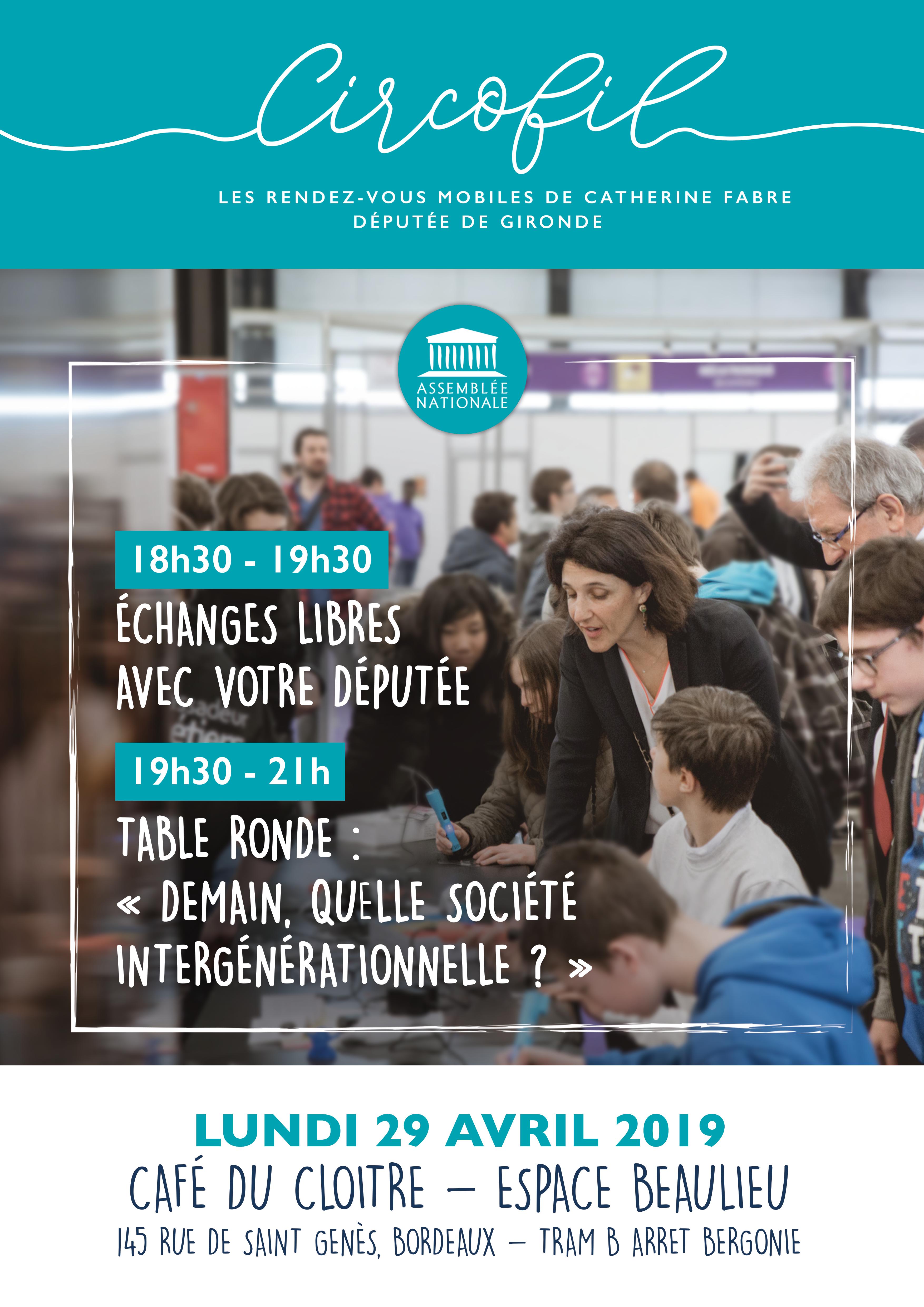L'affiche de Circofil 5, la réunion publique organisée par Catherine Fabre