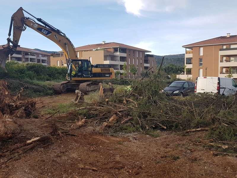 Évacuation de troncs construction de lotissement à Gardanne