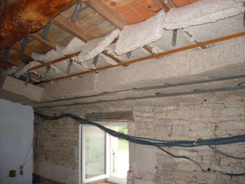 Isolation Plafond rampant Laine de chanvre/lin/coton