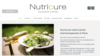 nutricure exemple site internet nutritionniste