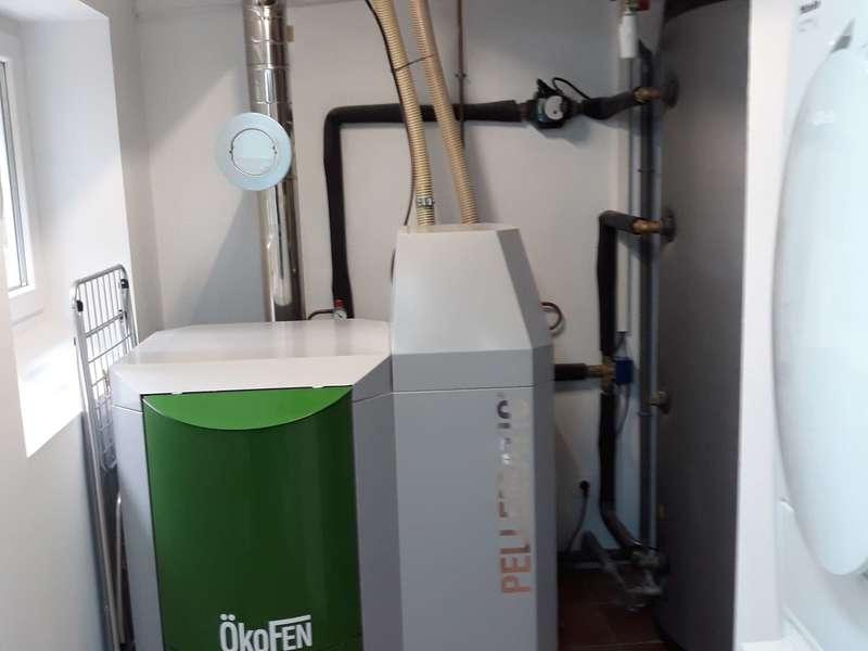 HENDAYE,  septembre 2017. Dans cette rénovation nous avons installés une chaudière OKOFEN de 20 KW.