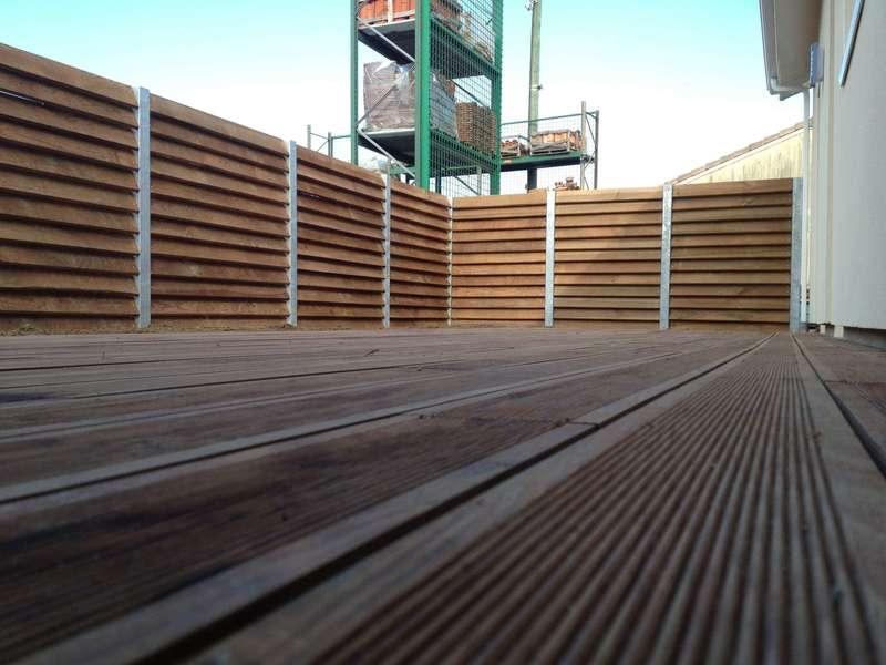 Terrasse en Pin des Landes traité classe 4 marron