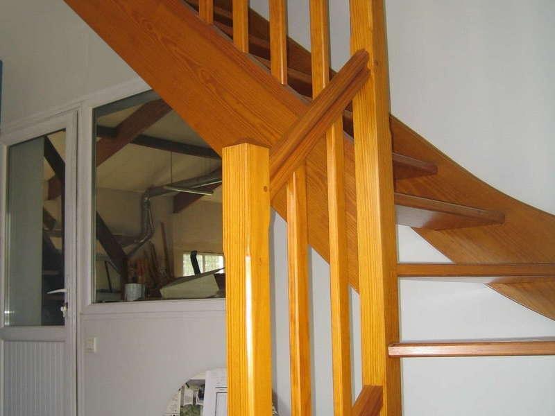 Escalier bois quart tournant