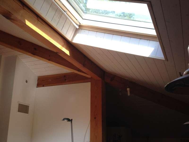 Fenêtrede toit Vélux  volet ouvert