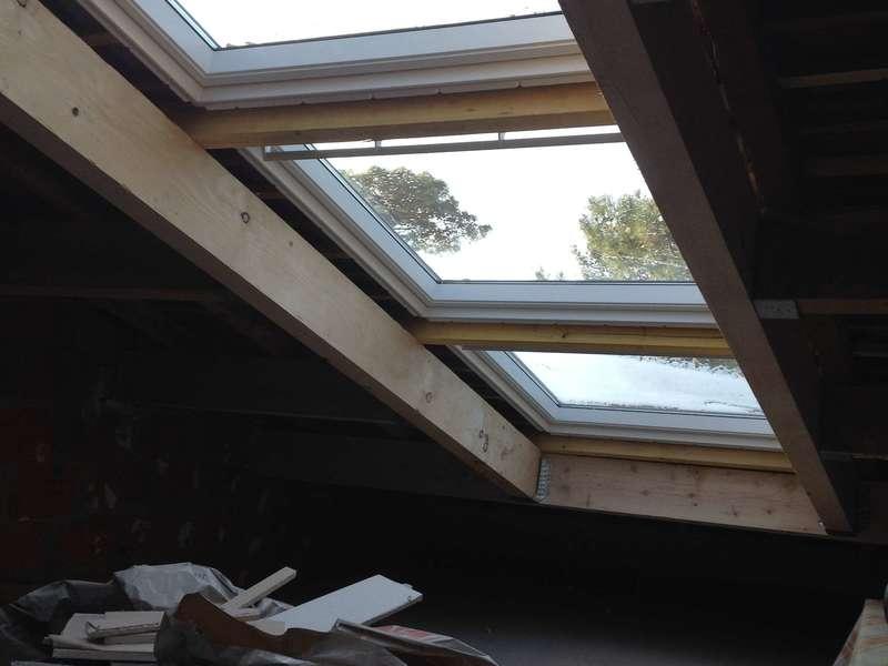 Fenêtre de toit Vélux trio à projection