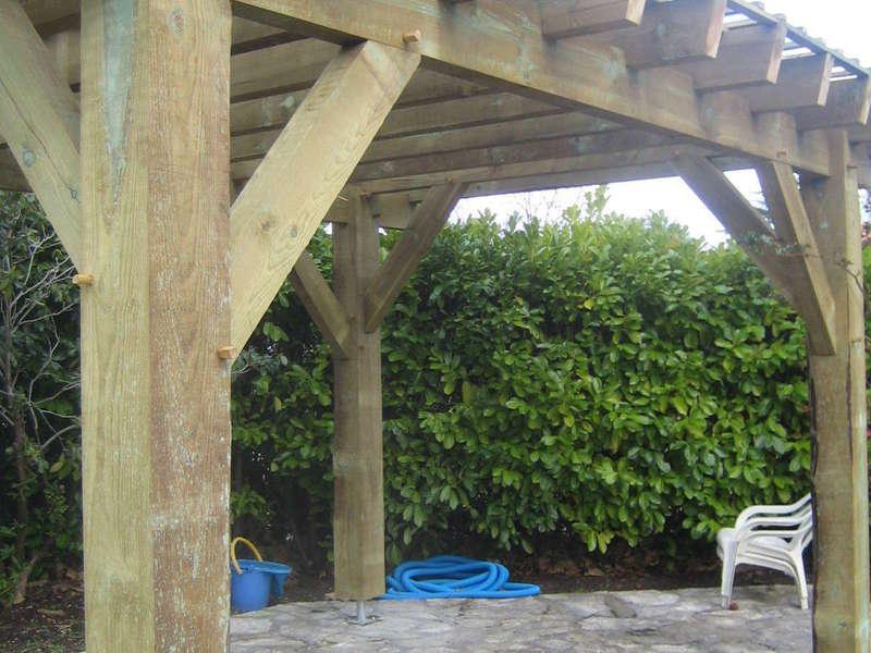 Pergola bois en pin des Landes traité classe 3 vert