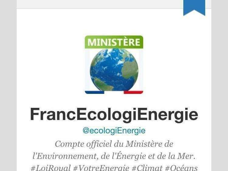 French Ministry of Energy follows us on Twitter
