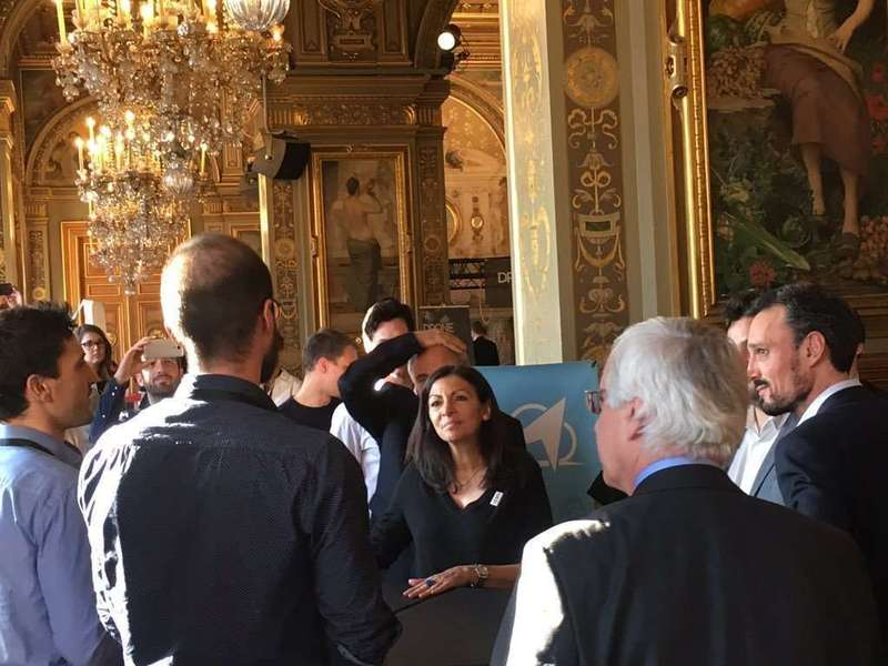 And we meet nice people: Anne Hidalgo