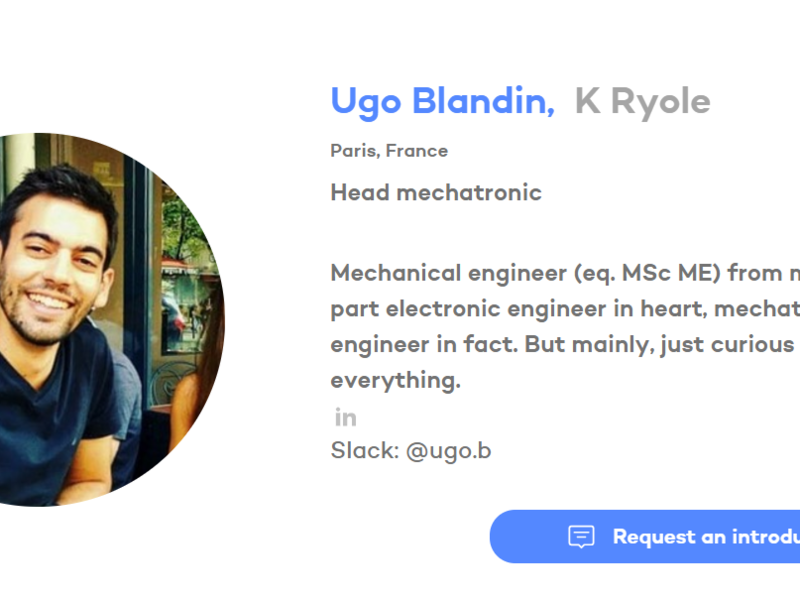Welcome to Hardware Club Ugo! You are so strong for this kind of startup things