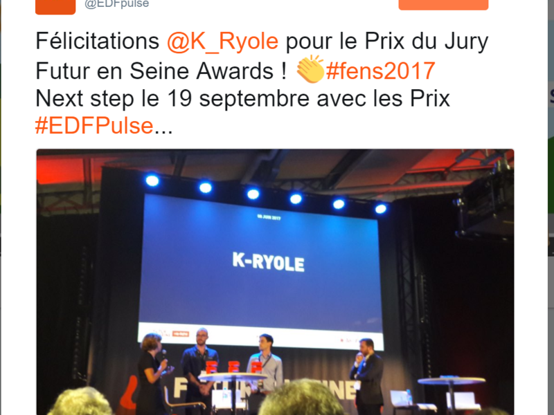 "Such a surprise: Valérie Pécresse awards K-Ryole with the Futur en Seine ""Prix du Jury"""