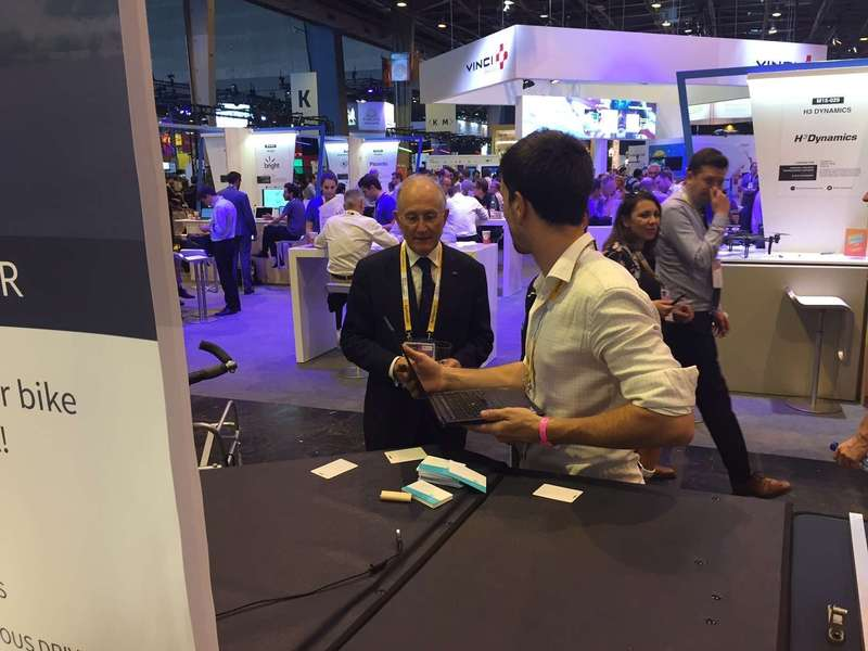 Three intense days at VivaTechnology! Philippe Wahl, La Poste CEO, passing through our stand