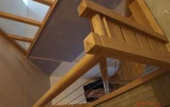escalier et cloison bois verre menuiserie MIGUET EURE 27580 CHAISE DIEU DU THEIL