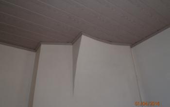 plafond lambris composite avec corniche assortie menuiserie MIGUET EURE 27580 CHAISE DIEU DU THEIL