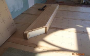 plancher chêne détail de fabrication menuiserie MIGUET EURE 27580 CHAISE DIEU DU THEIL