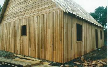 maison ossature bois bardage red-cédar menuiserie MIGUET EURE 27580 CHAISE DIEU DU THEIL