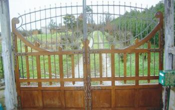 portail bois menuiserie MIGUET EURE 27580 CHAISE DIEU DU THEIL