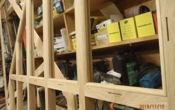 fabrication atelier cloison bois verre menuiserie MIGUET EURE 27580 CHAISE DIEU DU THEIL